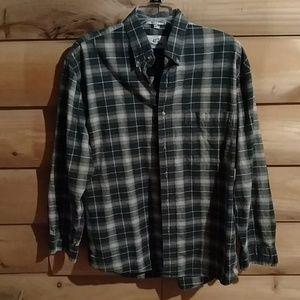 Mens tailored plaid shirt